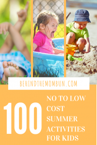 100 LOW TO NO COST SUMMER ACTIVITIES FOR KIDS
