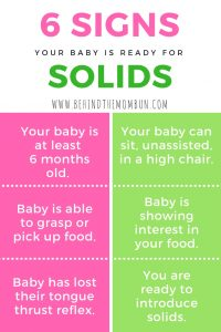 six signs your baby is ready for solids