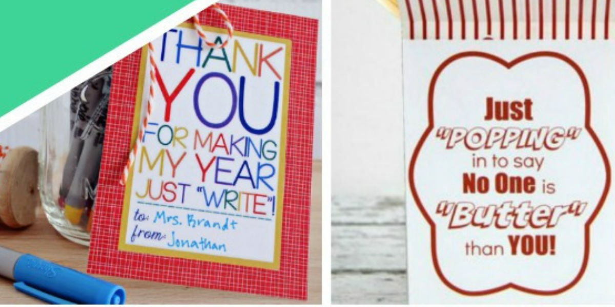 12 Printable Teacher Appreciation Ideas