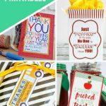 printable teacher gifts presented by sweet fireflies