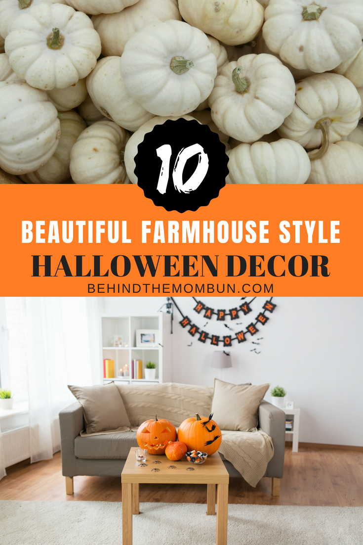 10 Beautiful Farmhouse Style Halloween Decorations