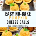 No-Bake Mini Pumpkin Cheese Ball Bites