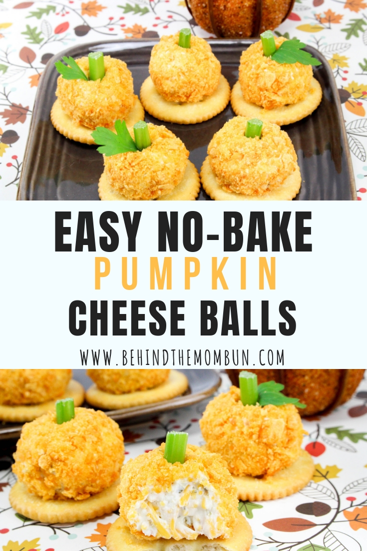 No-Bake Mini Pumpkin Cheese Ball Bites