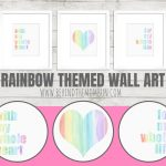 Rainbow Themed Nursery Wall Decor-Printable