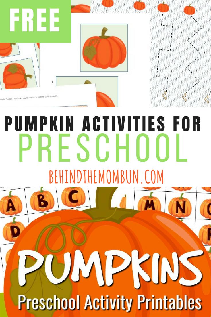 Free Pumpkin Activities for Preschool