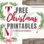 Wreath Christmas Printables with Monogram