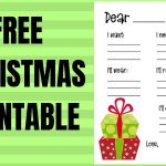 Christmas Printable Free 5 Gift List Printable