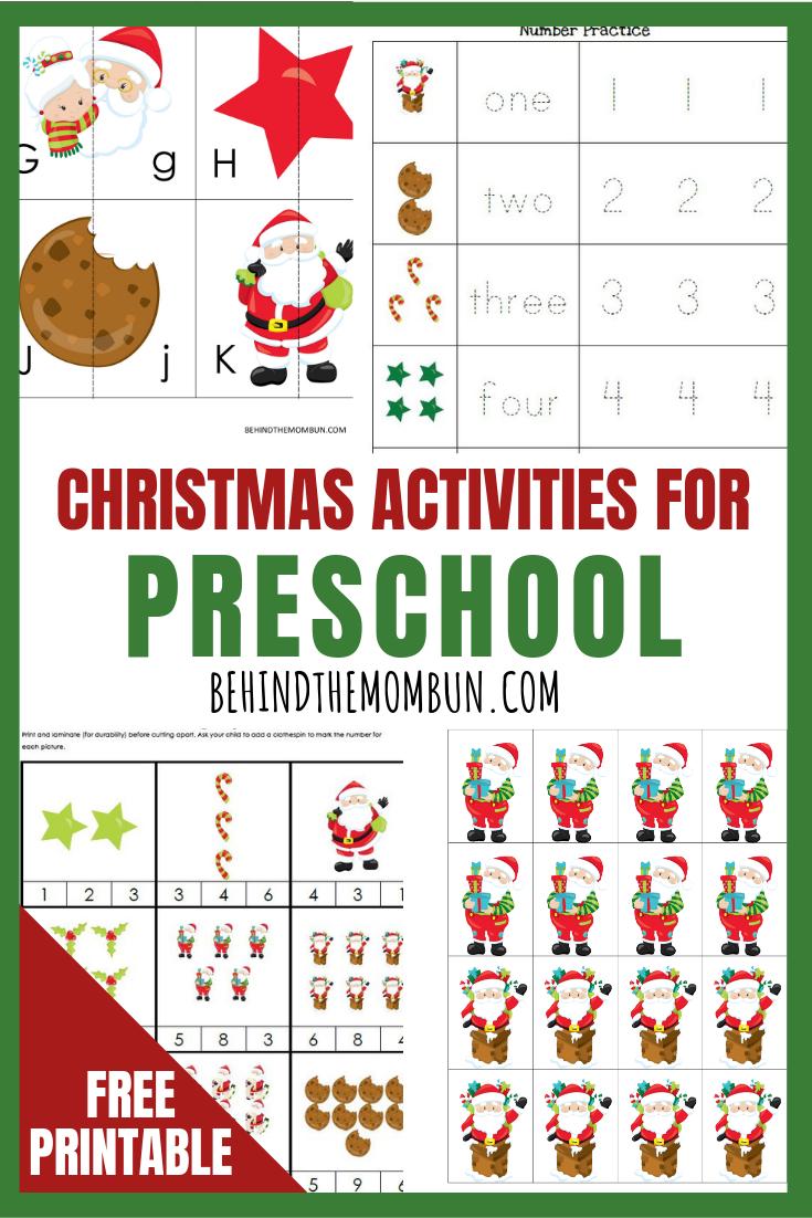 Free Christmas Preschool Printable Pack