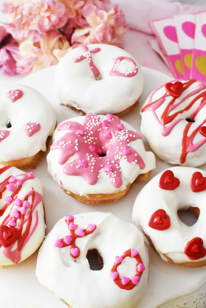 valentine's day breakfast diy donuts