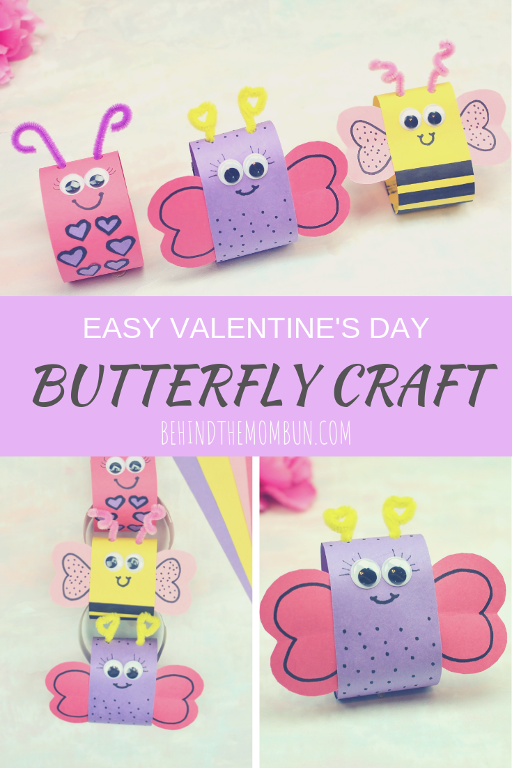 butterfly craft behind the mom bun