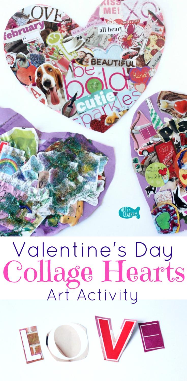 valentine's day collage hearts