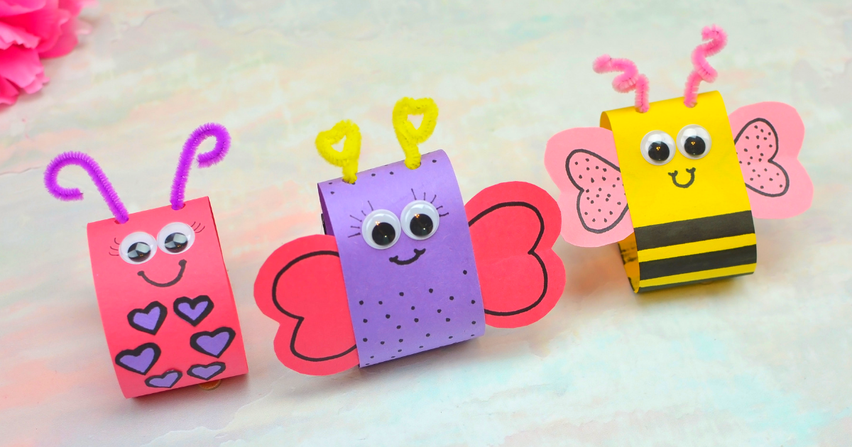 Spring Art and Craft for Kids: Cute Backyard Bugs