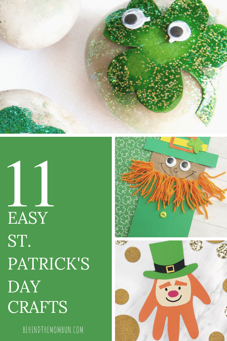11 Easy St Patrick S Day Crafts For Kids Behind The Mom Bun