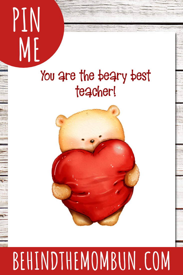 YOU ARE THE BEARY BEST TEACHER