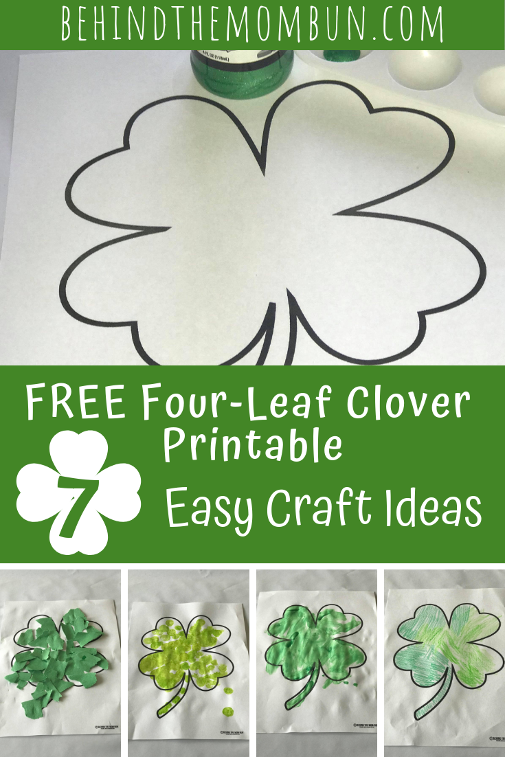 free four-leaf clover printable