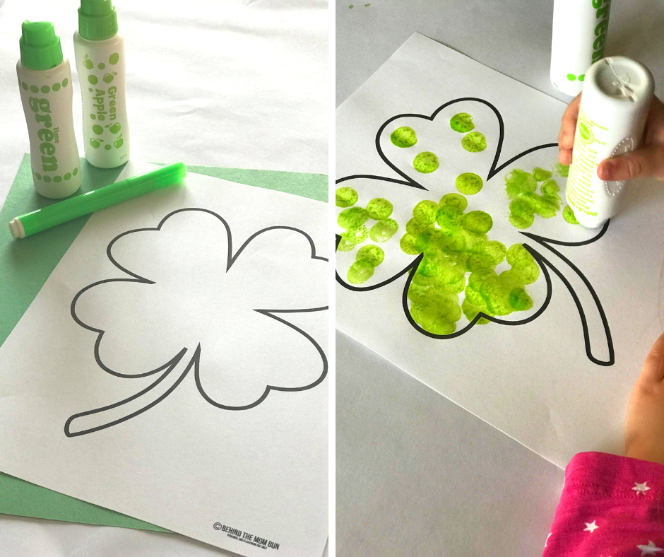 dot paint clover craft