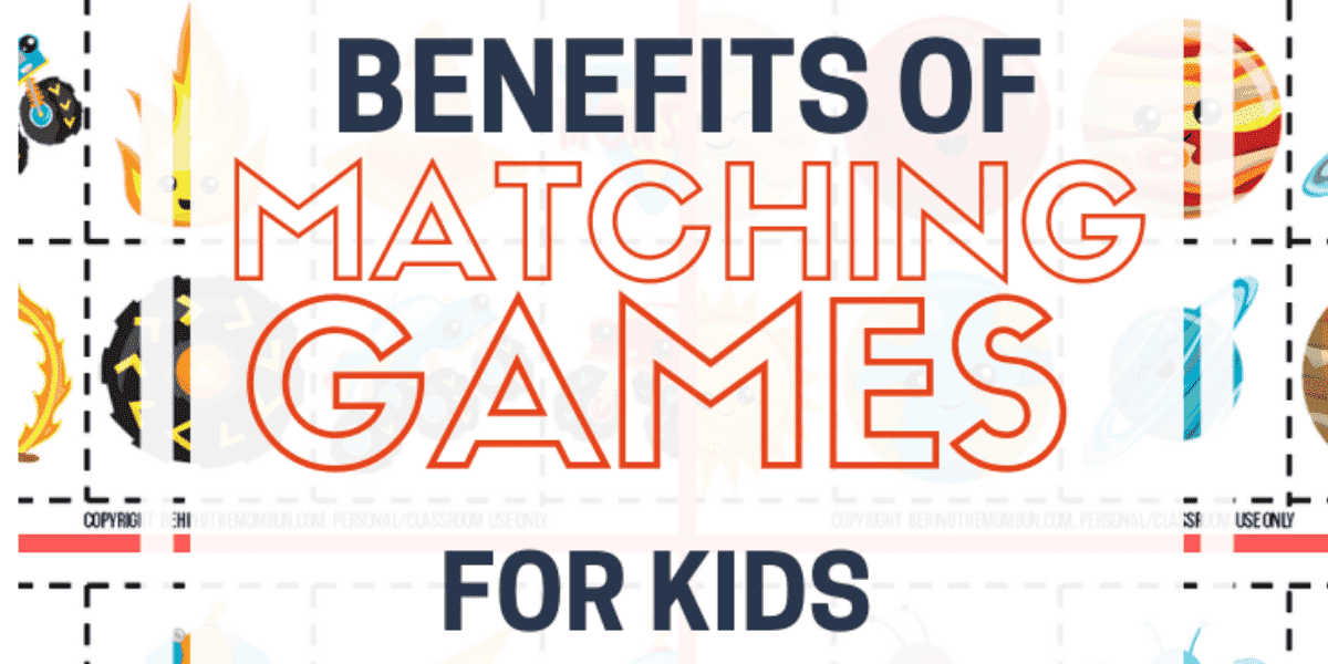Benefits of Playing Matching Games with Kids with Free Printable Game Boards