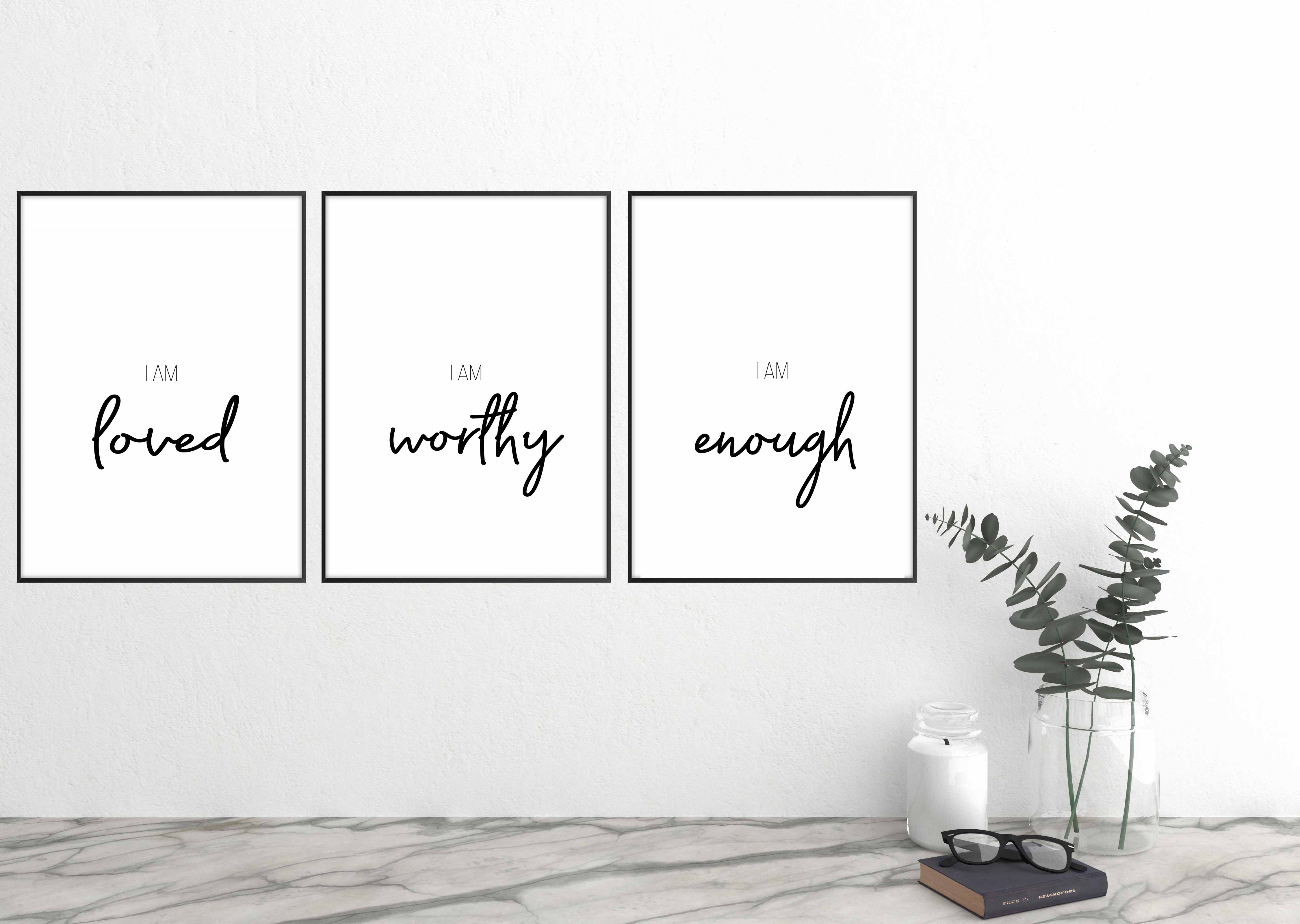 Dear Moms, You are Loved, You Are Worthy, You are Enough- Free Printables (Limited)