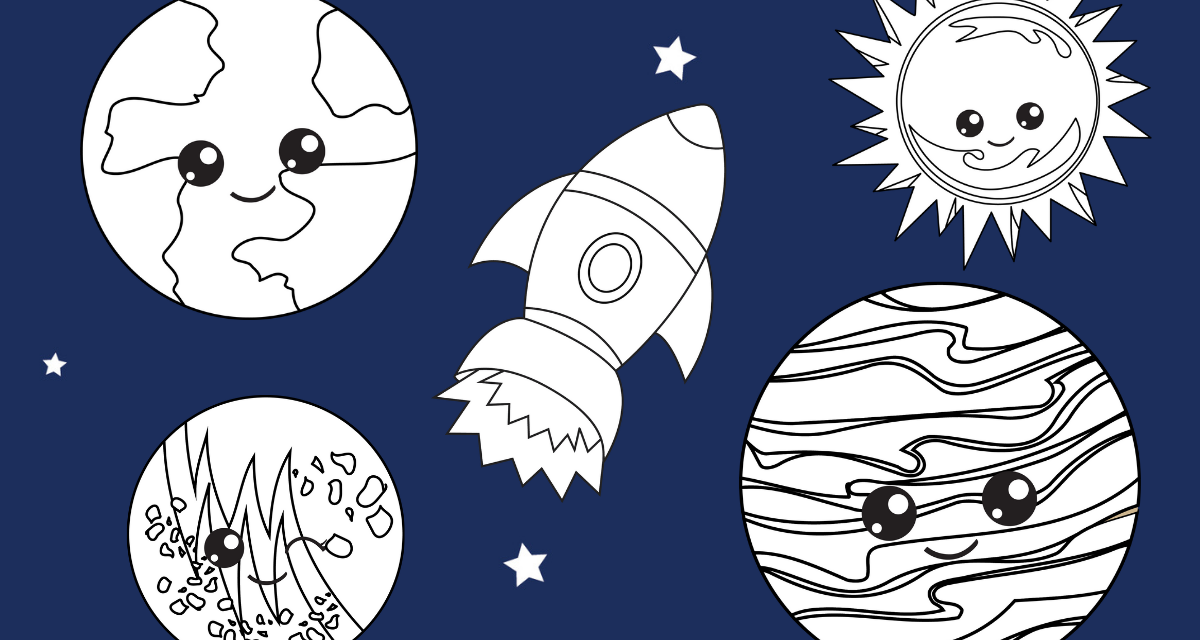 Coloring the Planets Pack for Preschoolers