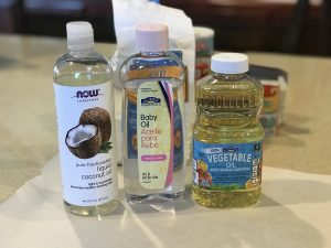 DIY Moon Sand-3 Oils you can use to make moon sand-behind the mom bun