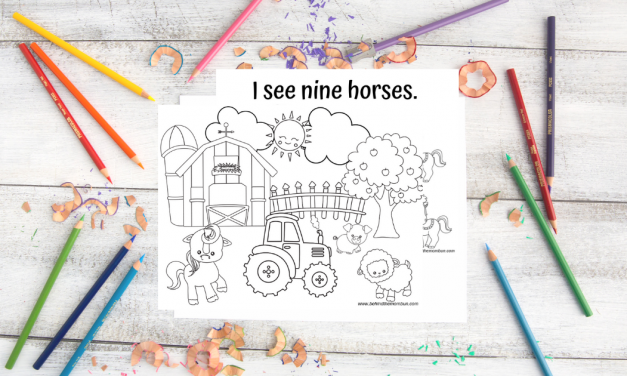 Free Counting Coloring Books for Kids: Farm Life. Happy Life.