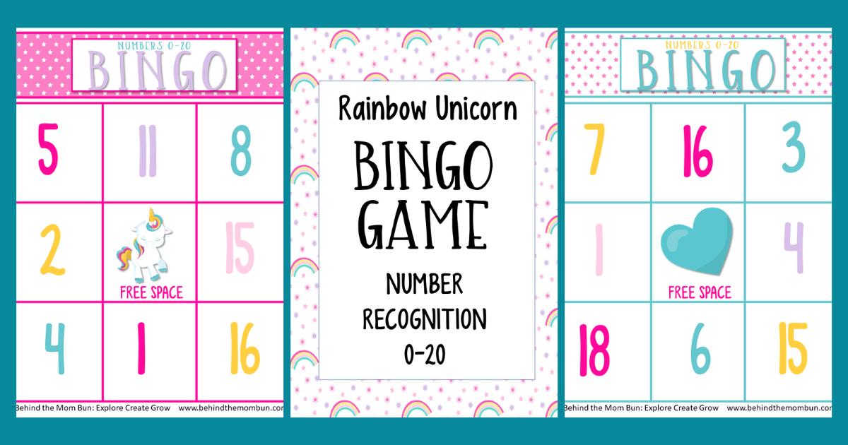 Bingo Games for Kids: Rainbow Unicorn