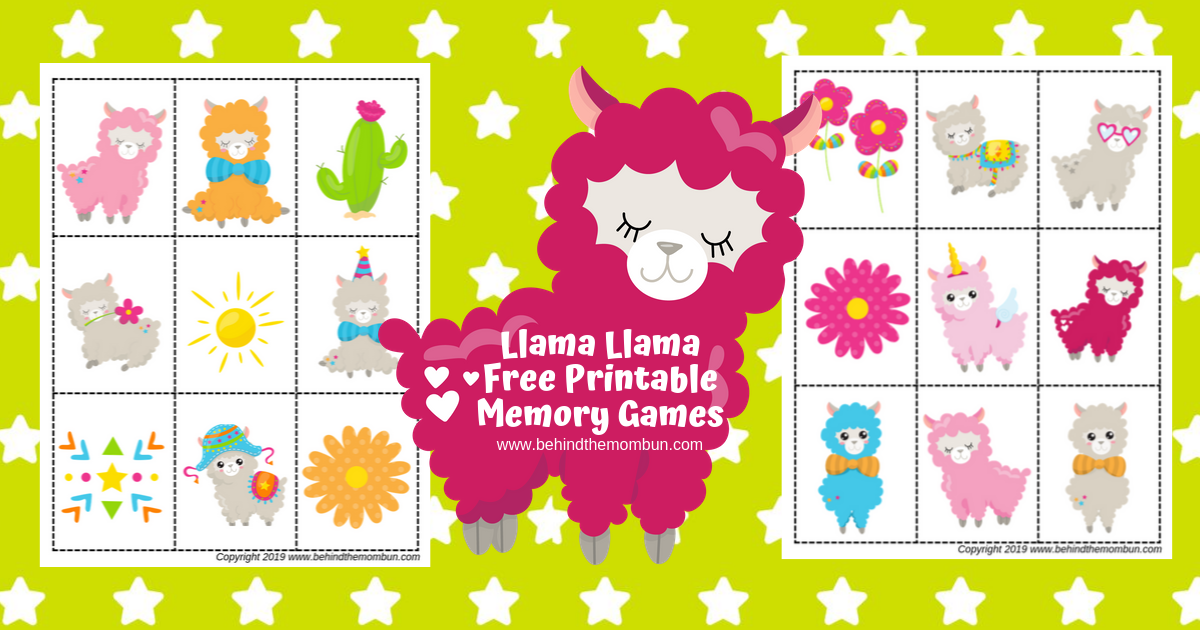 Llama Memory Games and Matching Games for Kids