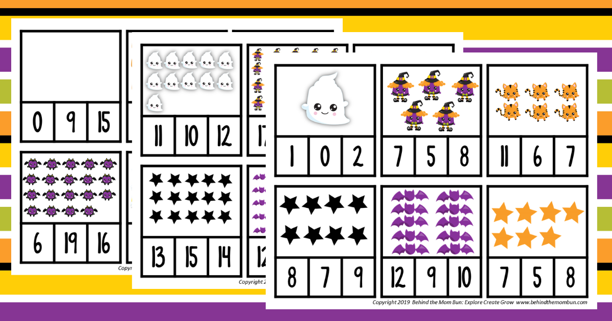 Number Recognition: Cute Halloween Counting Games for Pre-K