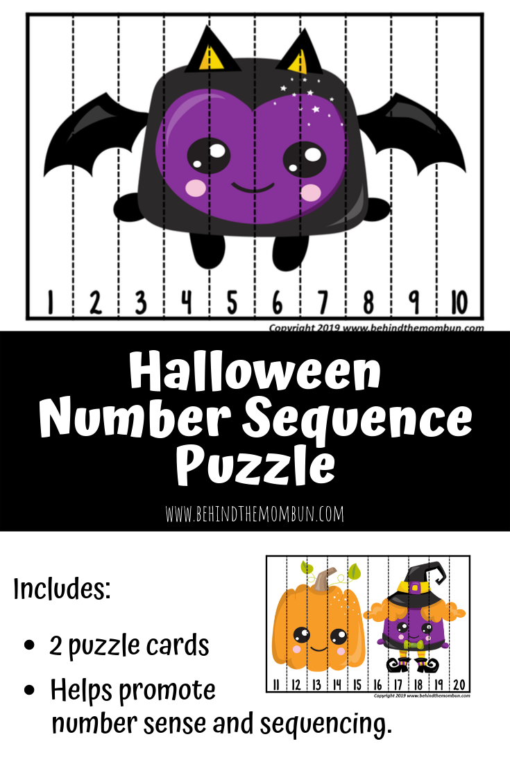 number puzzles-number sequence-free printable-behind the mom bun