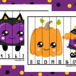 Number Puzzles: Halloween Sequence Puzzle for Pre-K