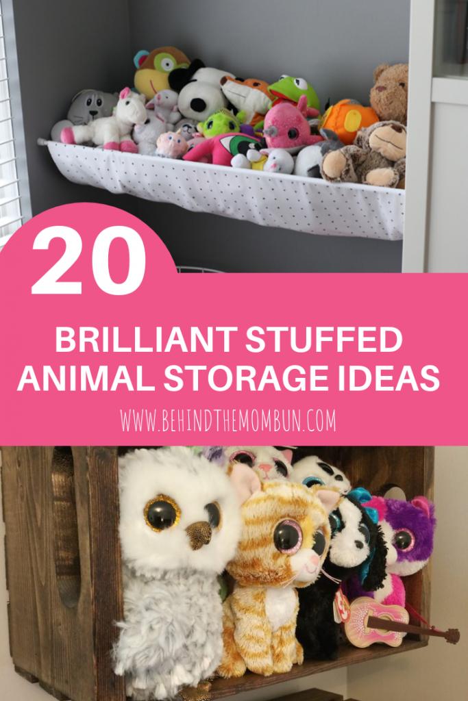 Behind the Mom Bun-Stuffed Animal Storage Ideas-Toy Storage