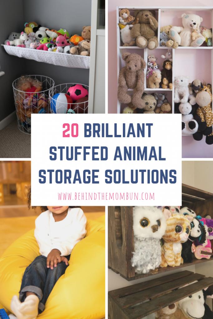stuffed animal storage-toy storage ideas-behind the mom bun