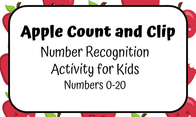 Count and Clip Numbers Game for Preschoolers
