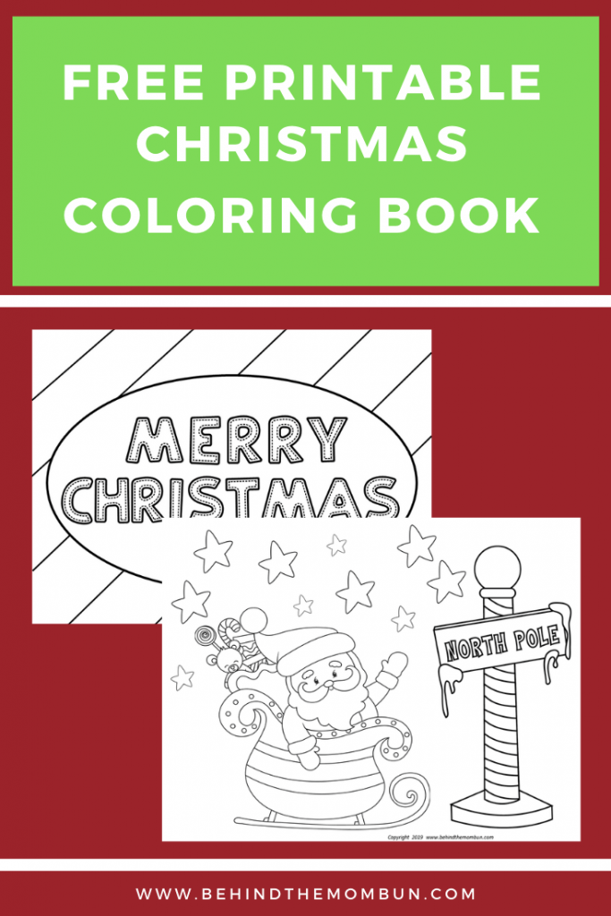 Free Christmas Coloring Books - Behind The Mom Bun