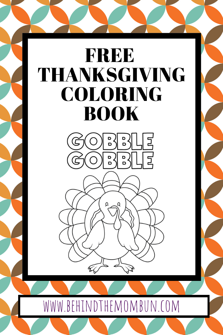 Free thanksgiving coloring book-coloring books for kids-behind the mom bun