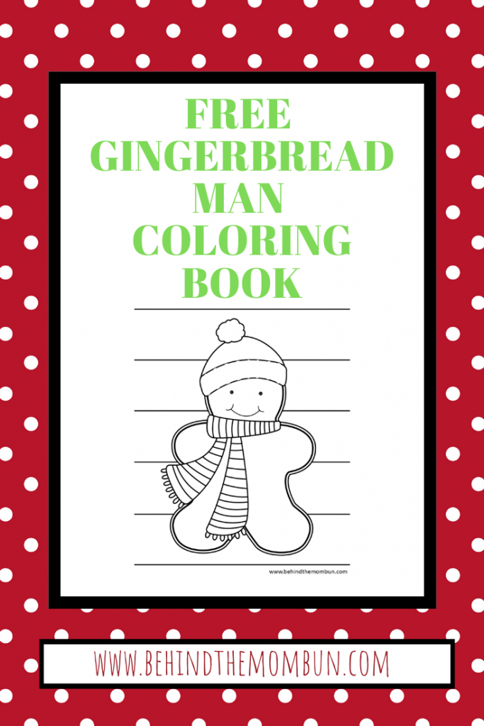 gingerbread man with scarf coloring page