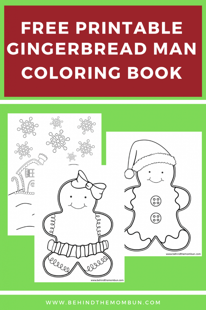 set of three gingerbread coloring pages