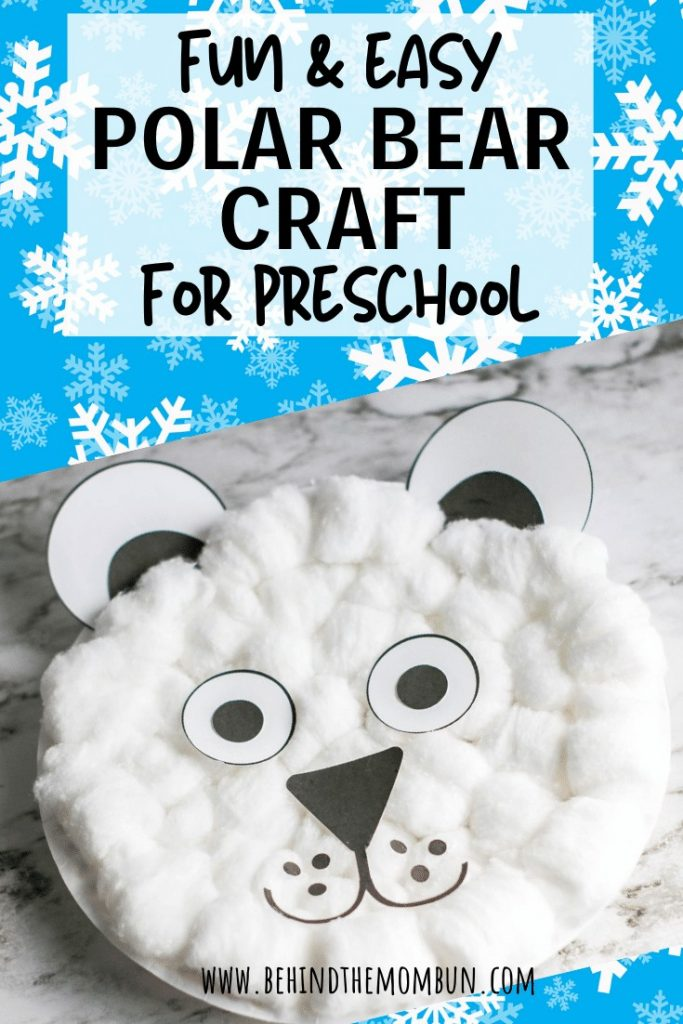 Finished polar bear craft