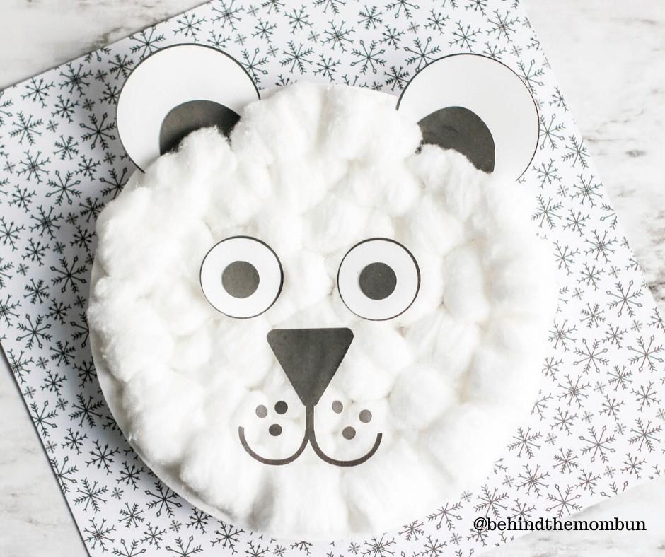 super cute polar bear craft