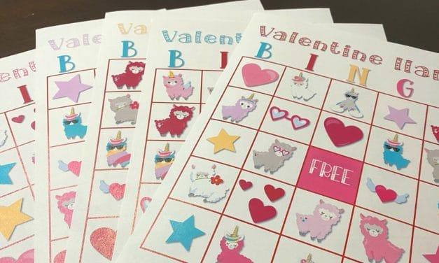 Free Valentine Llama Bingo