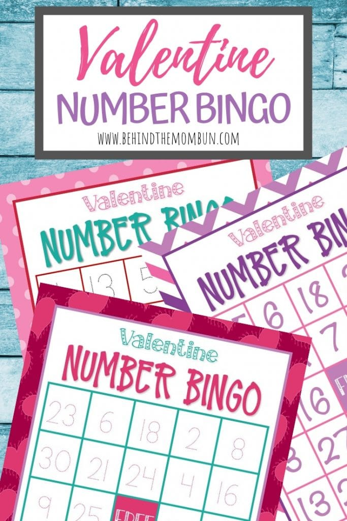 valentine number bingo cards