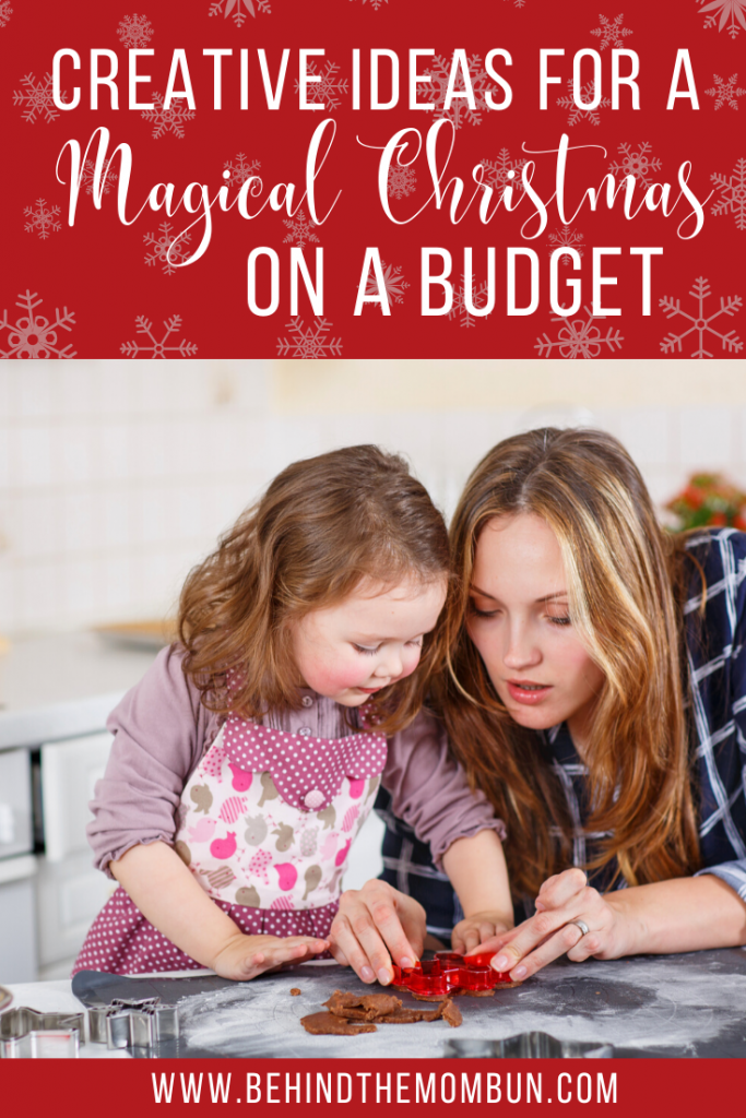 mom and daughter enjoying a christmas on a budget activity