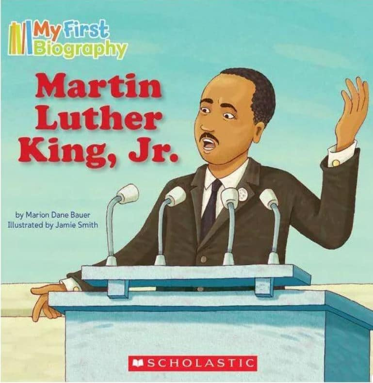 my first biography book about martin luther king jr.