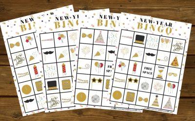 New Year Bingo Games for Kids