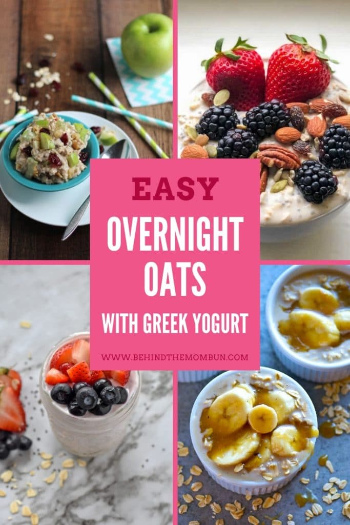 picture of overnight oats with greek yogurt