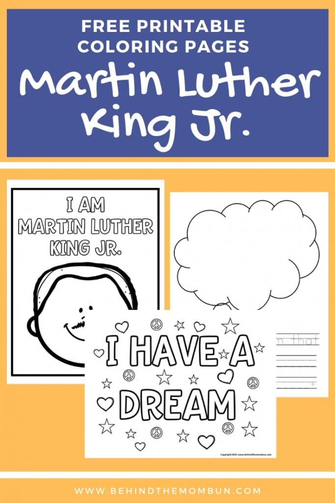 free printable coloring pages about martin luther king jr.