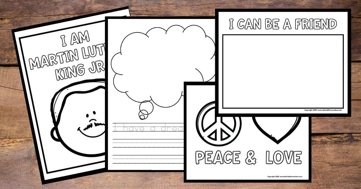 Martin Luther King Jr Coloring Pages - Behind The Mom Bun