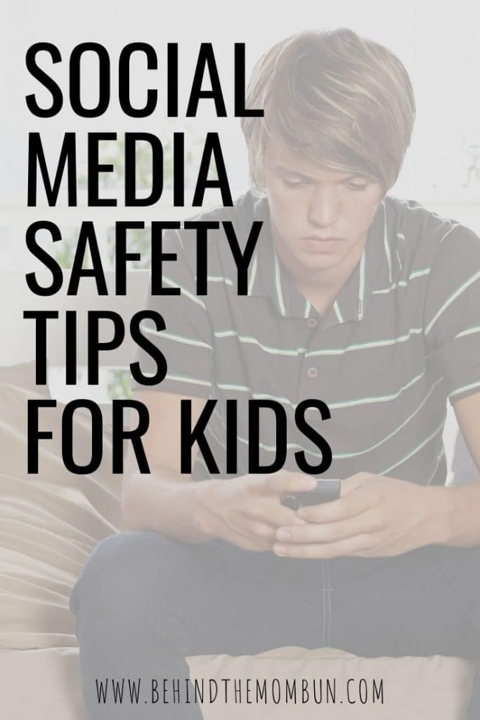 teen boy on his phone learning social media safety