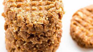 Sugar-Free Low Carb Peanut Butter Cookies Recipe - 4 Ingredients