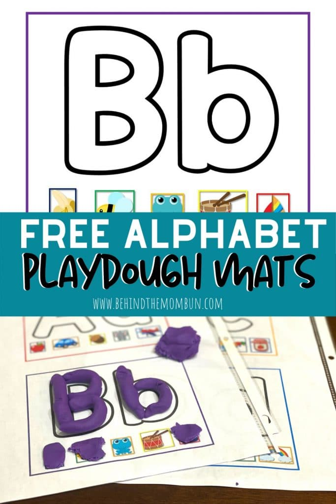 letter B playdough mat
